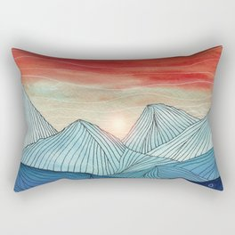 Lines in the mountains IV Rectangular Pillow