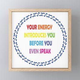 Energy Framed Mini Art Print