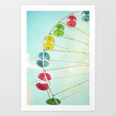 Wheel of Happiness Art Print