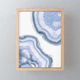 Airy Blue Agate Framed Mini Art Print