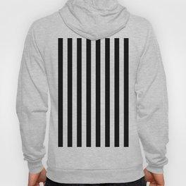 Parisian Black & White Stripes (vertical) Hoody