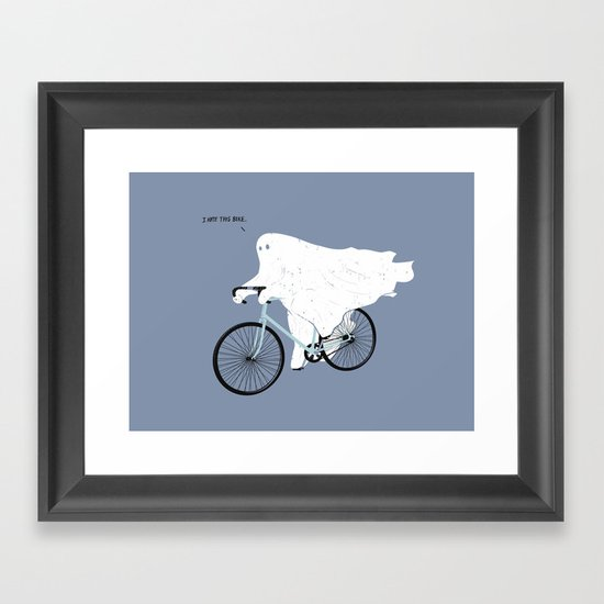 Negative Ghostrider. Framed Art Print
