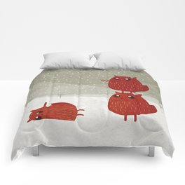 Stacked beavers Comforters