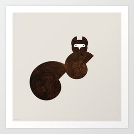 Minanimals: Squirrel Art Print