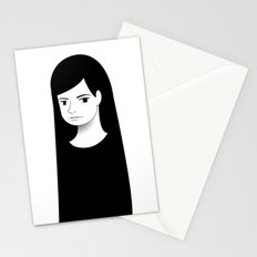 normal girl  Stationery Cards