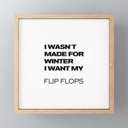 winter flip flops Framed Mini Art Print