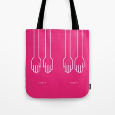 single - couple Tote Bag