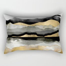 Golden Spring Moon Rectangular Pillow