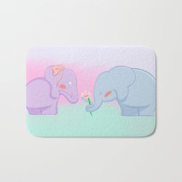 Elephant Love Bath Mat