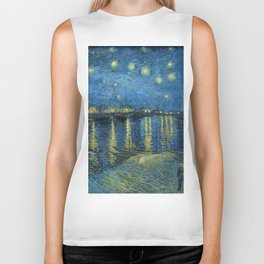 Starry Night Over the Rhone Biker Tank