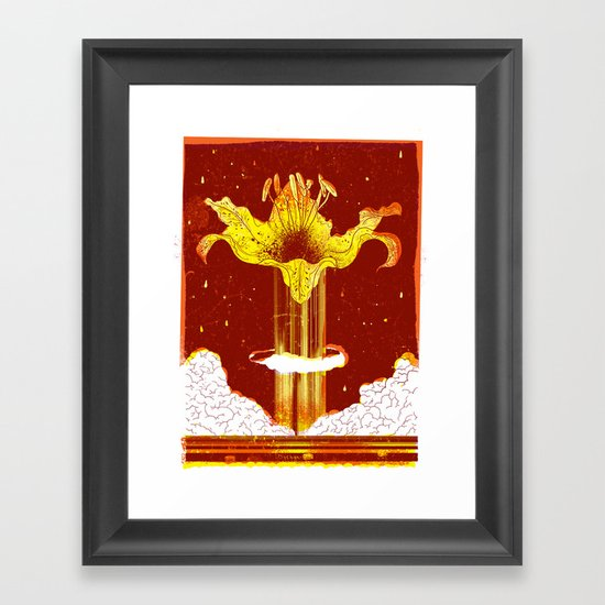The Lily Bomb Framed Art Print
