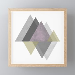 To the Mountains I Must Go, Abstract Geometric Art Framed Mini Art Print