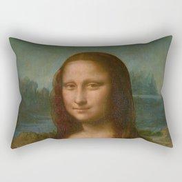 Mona Lisa Classic Leonardo Da Vinci Painting Rectangular Pillow
