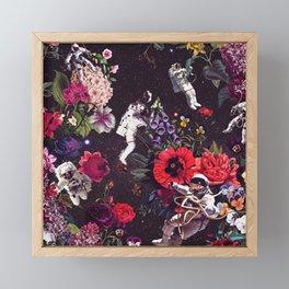 Flowers and Astronauts Framed Mini Art Print