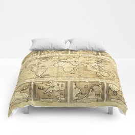 Vintage map of the World Comforters