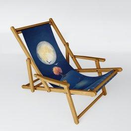 Full moon night Sling Chair