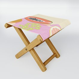 Papaya Picnic Folding Stool