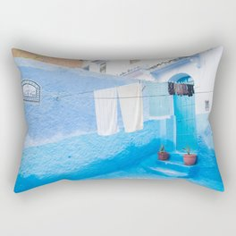 Shades of Chefchaouen II - The Blue City, Morocco Rectangular Pillow