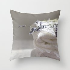 Smell of lavender Throw Pillow