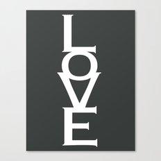 LOVE (gray) Canvas Print