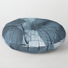blue leaf III Floor Pillow