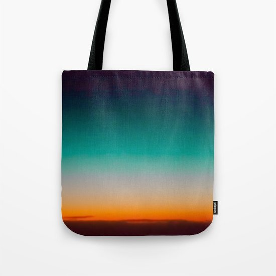 Blue and Yellow Magic Dawn in the Sky Tote Bag