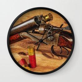 Old Double Barrel Stevens Wall Clock