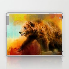 Colorful Expressions Grizzly Bear Laptop & iPad Skin