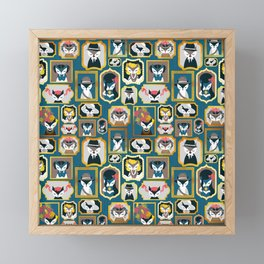 Cats wall of fame Framed Mini Art Print