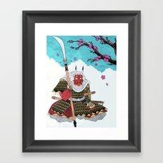 Demon Samurai Framed Art Print