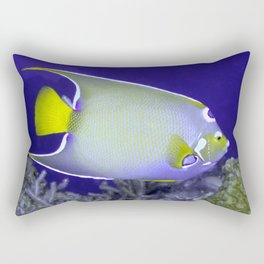 Queen Angelfish From Side Rectangular Pillow
