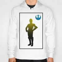 c3po Hoodies featuring c3po by inkleach