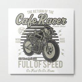 Caferacer Motorcycle Vintage Poster Metal Print