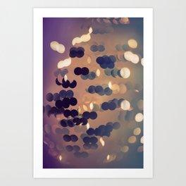 Abstract bokeh glittering light effects background Art Print
