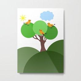 Happy Birds Metal Print