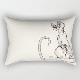 Cats with Tats v.1 Rectangular Pillow