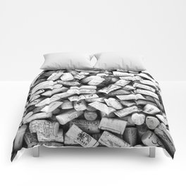 Something Nostalgic II Twist-off Wine Corks in Black And White #decor #society6 #buyart Comforters