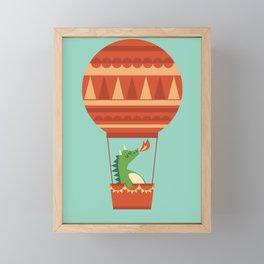 Dragon On Hot Air Balloon Framed Mini Art Print