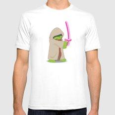 Master Jedi MEDIUM Mens Fitted Tee White