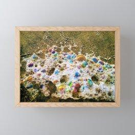 Rainbow Bubbles  Sea Foam by Reay of Light Framed Mini Art Print