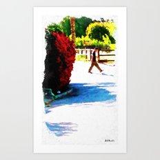 Passing Stranger Art Print