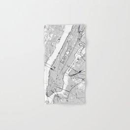New York City White Map Hand & Bath Towel