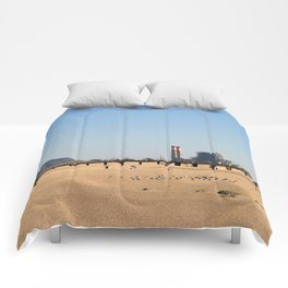 Power Station Beach Comforters