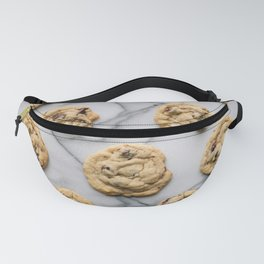 Chocolate Chip Cookies Marble Background Fanny Pack