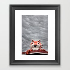 The Eye of the Tiger Framed Art Print