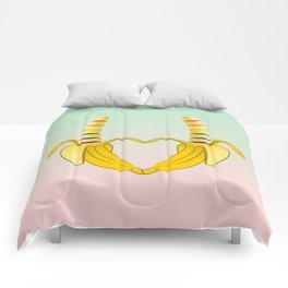 Gay Pride Banana Heart Comforters