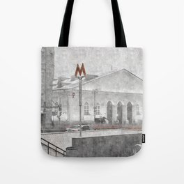 Lenin's Library. Moscow Tote Bag