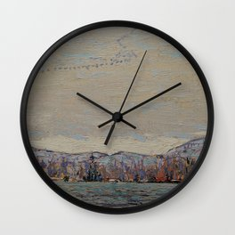 Tom Thomson - Wild Geese - Canada, Canadian Oil Painting - Group of Seven Wall Clock