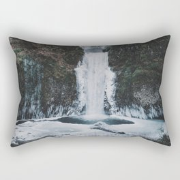 Frozen Multnomah Falls Rectangular Pillow