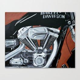 Harley Rider Canvas Print